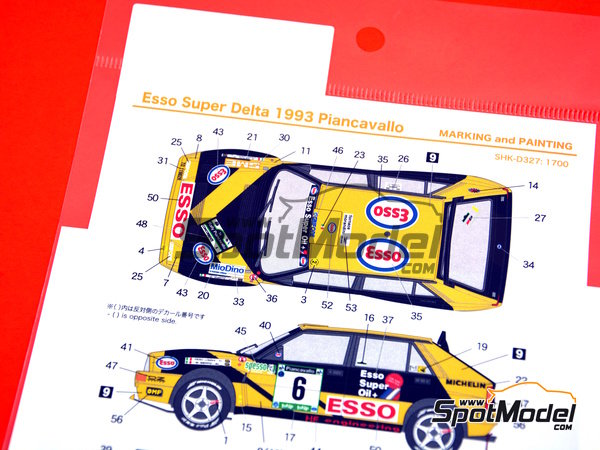 Image 6: Lancia Super Delta HF Integrale - Rally Piancavallo 1993 | Marking / livery in 1/24 scale manufactured by Shunko Models (ref. SHK-D327)