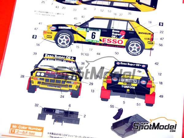 Image 7: Lancia Super Delta HF Integrale - Rally Piancavallo 1993 | Marking / livery in 1/24 scale manufactured by Shunko Models (ref. SHK-D327)