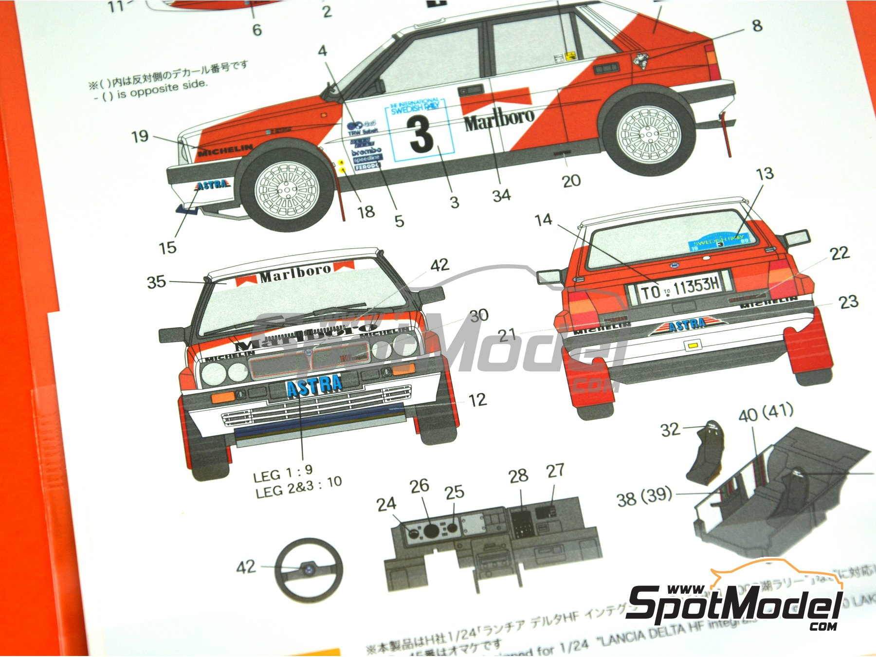 Image 7: Lancia Delta HF Integrale 16v - The International Swedish Rally 1989 | Marking / livery in 1/24 scale manufactured by Shunko Models (ref. SHK-D328)