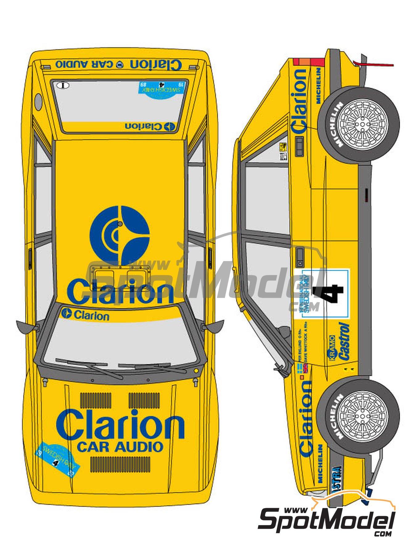 Lancia Delta - Rally de Suecia 1989 | Decoración en escala1/24 fabricado por Shunko Models (ref.SHK-D329) image
