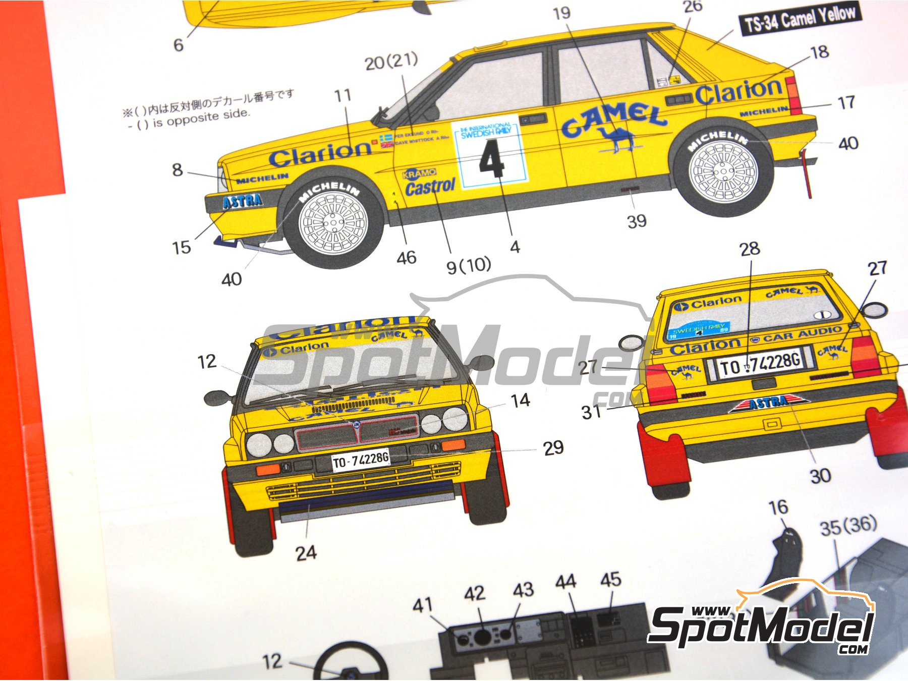 Image 6: Lancia Delta HF Integrale 16v Clarion Camel - The International Swedish Rally 1989 | Marking / livery in 1/24 scale manufactured by Shunko Models (ref. SHK-D329)