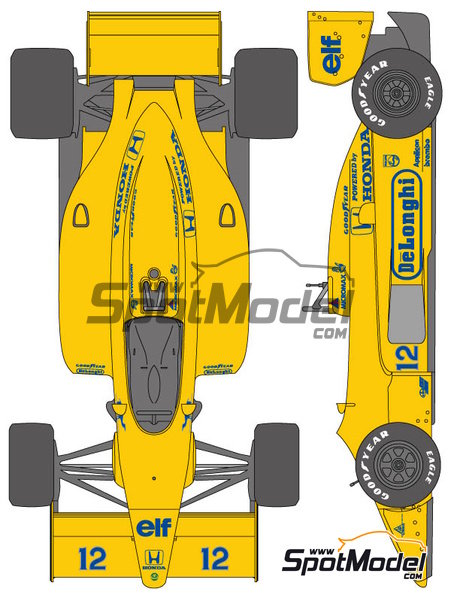 Lotus Honda 99T - FIA Formula 1 World Championship 1987 | Marking / livery in 1/20 scale manufactured by Shunko Models (ref. SHK-D330) image