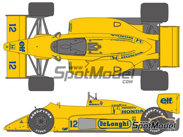Image 1: Lotus Honda 99T - FIA Formula 1 World Championship 1987 | Marking / livery in 1/20 scale manufactured by Shunko Models (ref. SHK-D330)