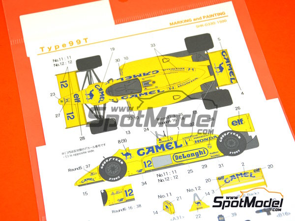 Image 6: Lotus Honda 99T - FIA Formula 1 World Championship 1987 | Marking / livery in 1/20 scale manufactured by Shunko Models (ref. SHK-D330)