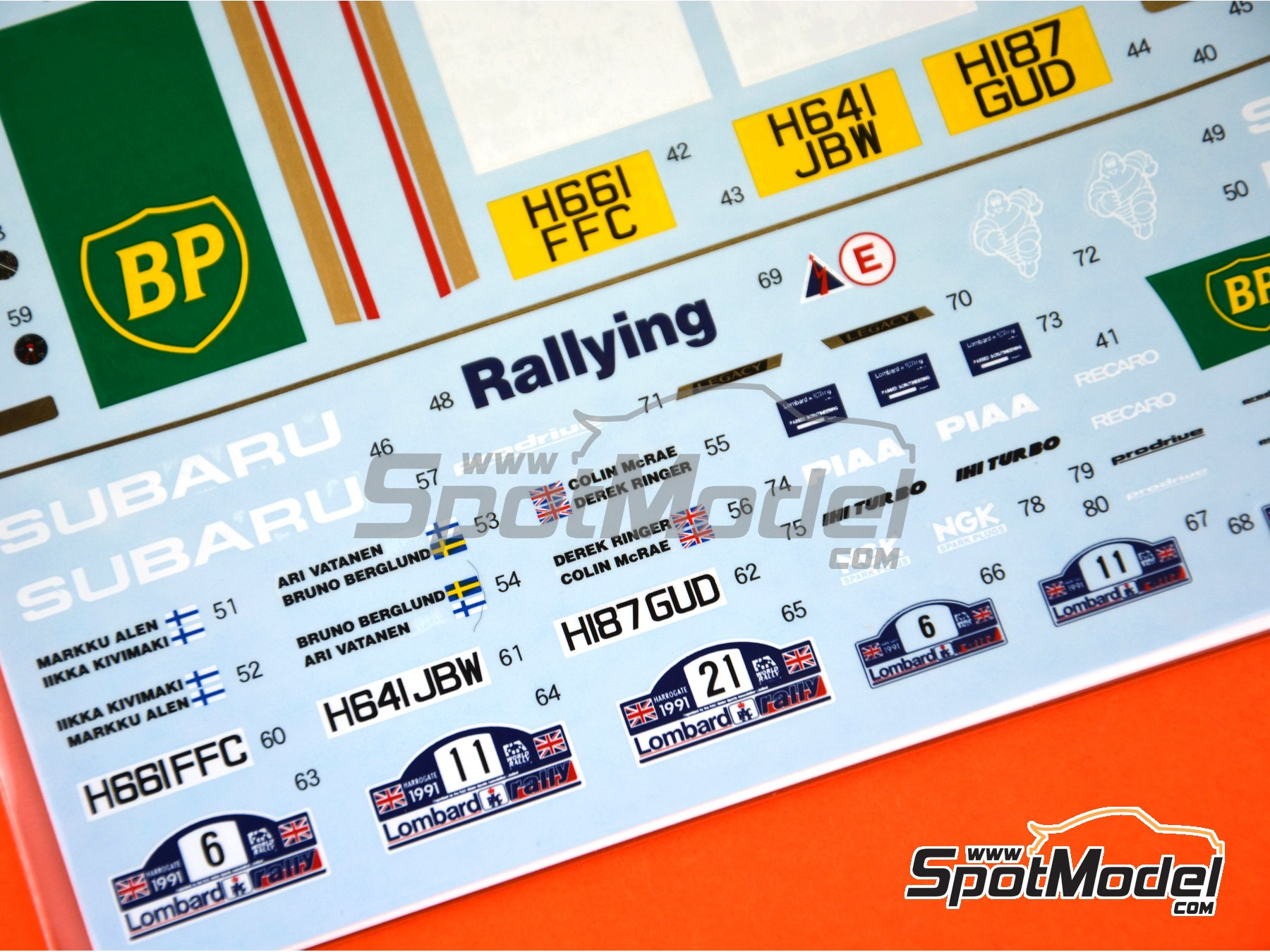 Image 4: Subaru Legacy RS Rothmans - Great Britain RAC Rally 1991 | Marking / livery in 1/24 scale manufactured by Shunko Models (ref. SHK-D335)