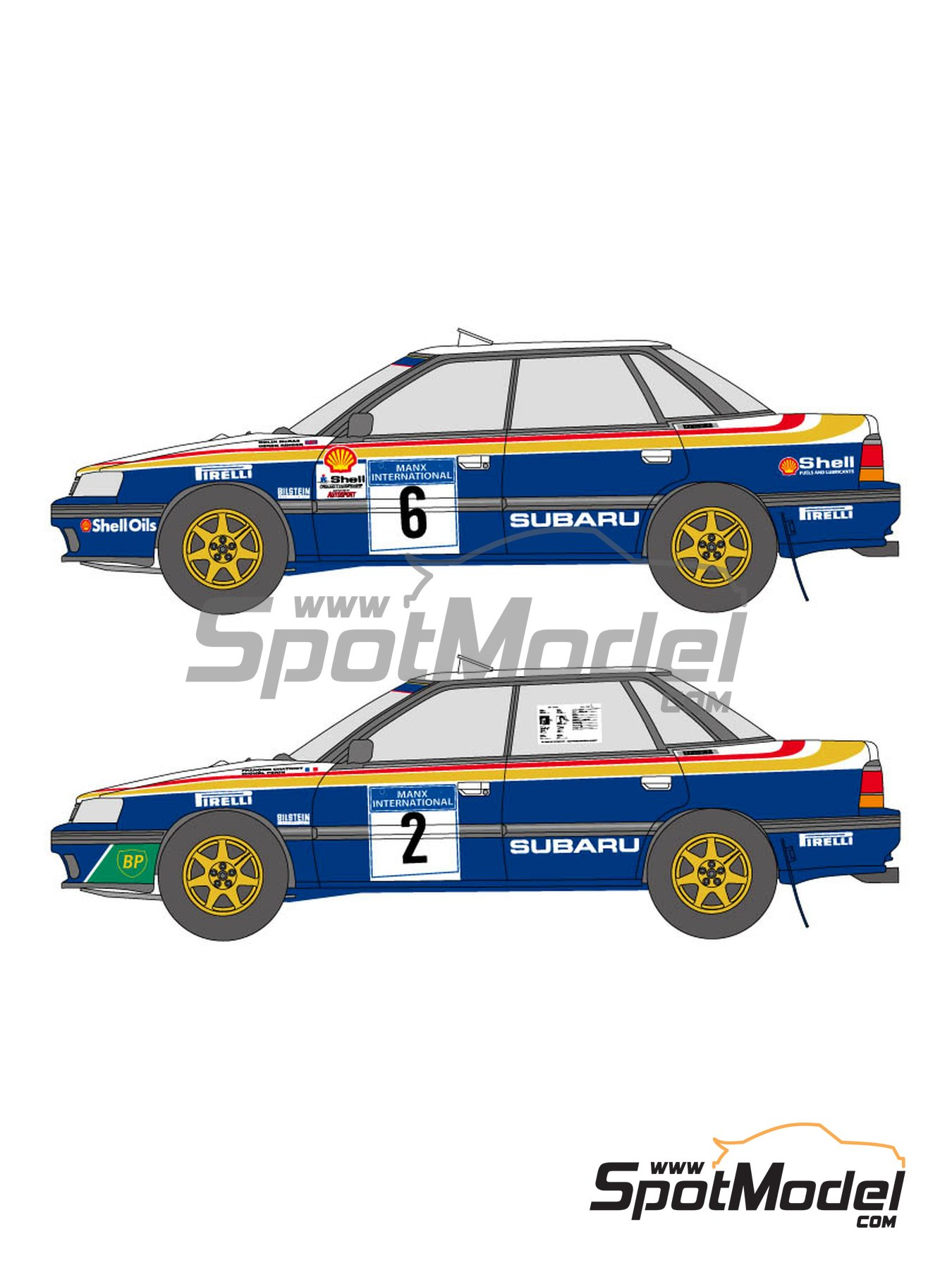 Subaru Legacy RS - Manx International Rally 1991 | Marking / livery in 1/24 scale manufactured by Shunko Models (ref. SHK-D336) image