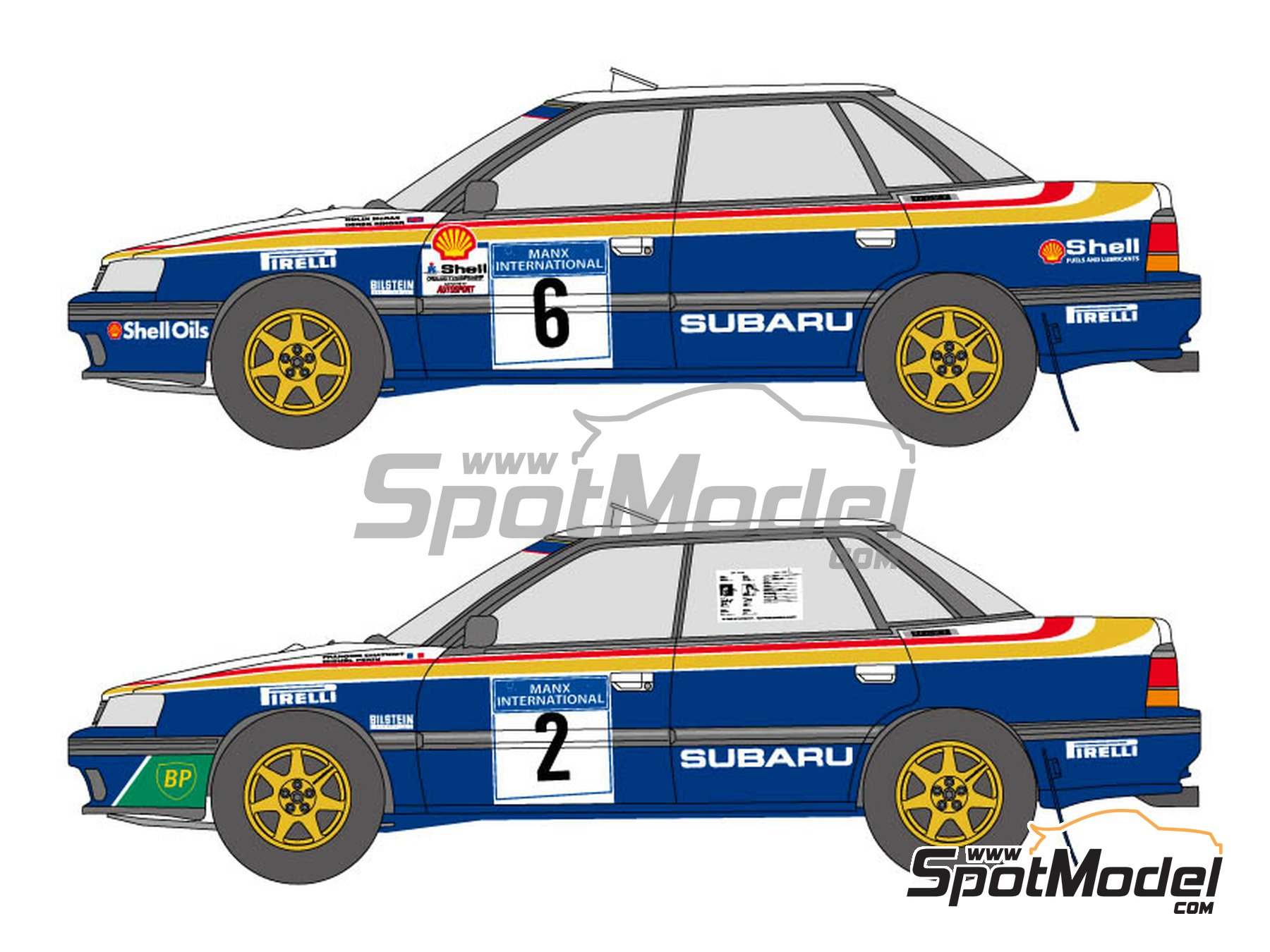 Image 1: Subaru Legacy RS - Manx International Rally 1991 | Marking / livery in 1/24 scale manufactured by Shunko Models (ref. SHK-D336)