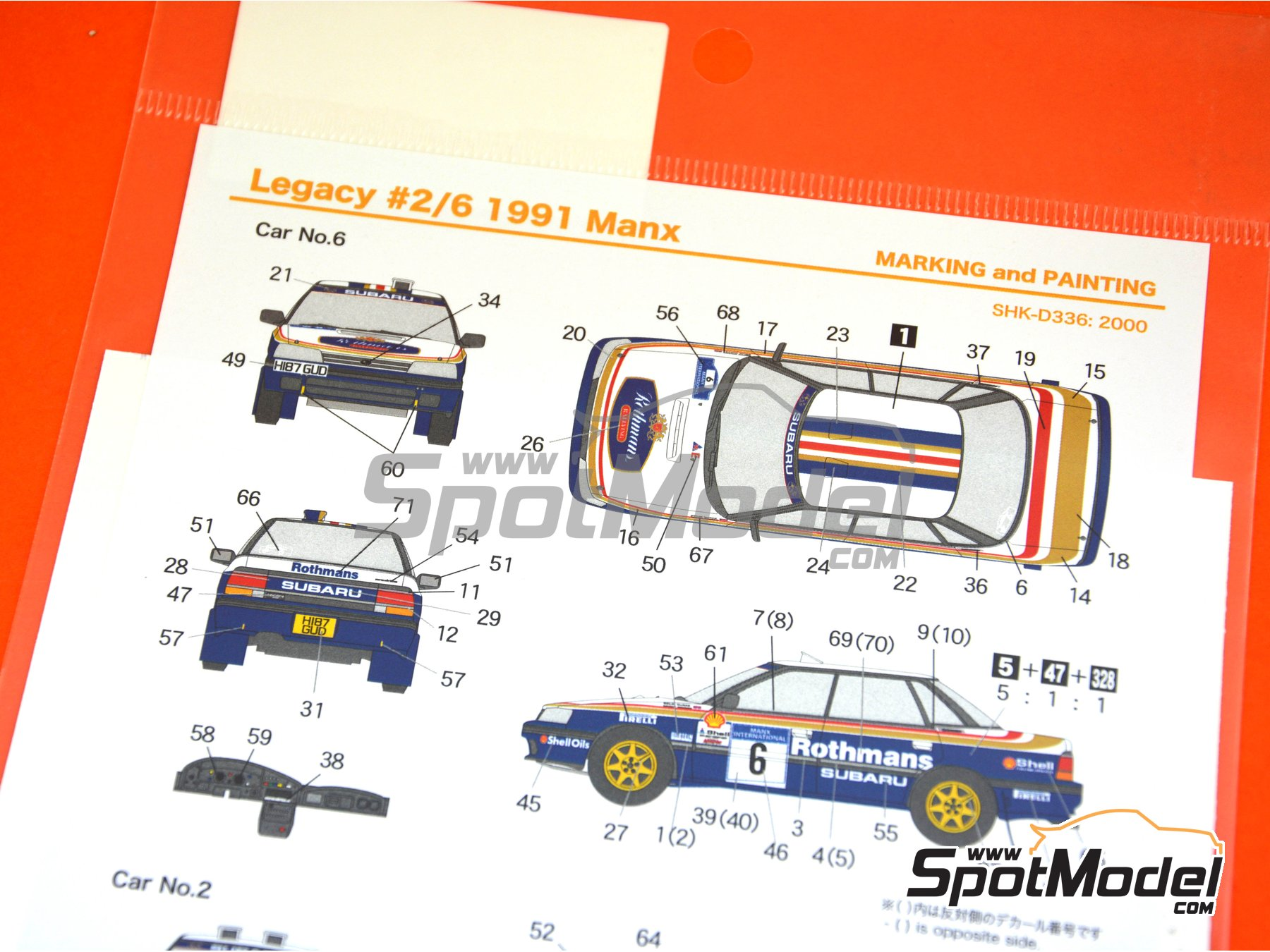 Image 6: Subaru Legacy RS - Manx International Rally 1991 | Marking / livery in 1/24 scale manufactured by Shunko Models (ref. SHK-D336)