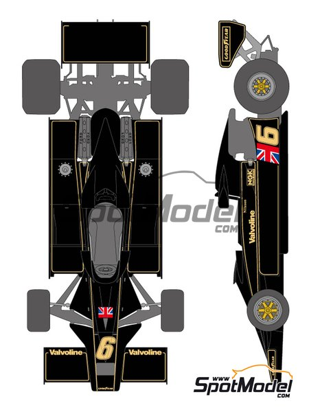 Lotus Ford Type 78 John Player Special Lotus Team - FIA Formula 1 World Championship 1977 | Marking / livery in 1/20 scale manufactured by Shunko Models (ref. SHK-D338) image