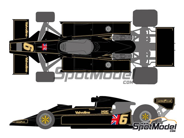 Image 1: Lotus Ford Type 78 John Player Special Lotus Team - FIA Formula 1 World Championship 1977 | Marking / livery in 1/20 scale manufactured by Shunko Models (ref. SHK-D338)