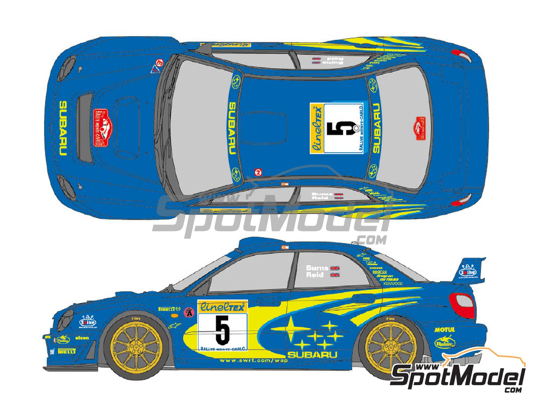 Image 1: Subaru Impreza WRC Works Team Impreza - Montecarlo Rally 2001 | Marking / livery in 1/24 scale manufactured by Shunko Models (ref. SHK-D341)