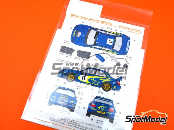 Image 3: Subaru Impreza WRC Works Team - Great Britain RAC Rally 2002 | Marking / livery in 1/24 scale manufactured by Shunko Models (ref. SHK-D344)