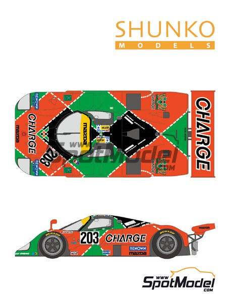 Mazda 767B Charge - 24 Hours Le Mans 1990 | Marking / livery in 1/24 scale manufactured by Shunko Models (ref. SHK-D350) image
