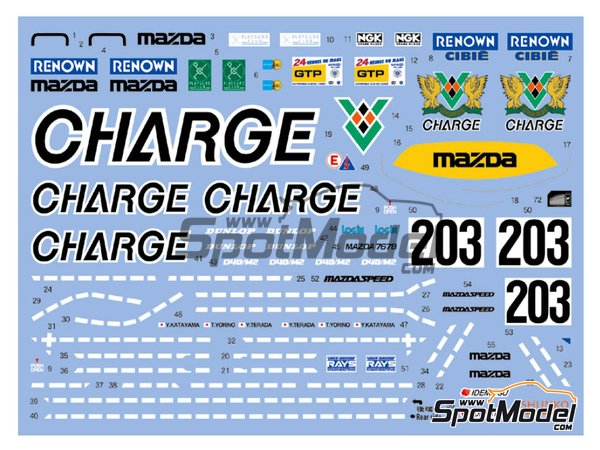 Image 1: Mazda 767B Charge - 24 Hours Le Mans 1990 | Marking / livery in 1/24 scale manufactured by Shunko Models (ref. SHK-D350)