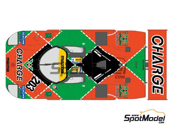 Image 2: Mazda 767B Charge - 24 Hours Le Mans 1990 | Marking / livery in 1/24 scale manufactured by Shunko Models (ref. SHK-D350)
