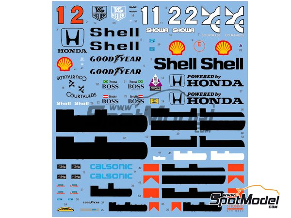 Image 2: McLaren Honda MP4/6 Marlboro - Campeonato del Mundo de Formula1 1991 | Decoración en escala1/12 fabricado por Shunko Models (ref.SHK-D353)