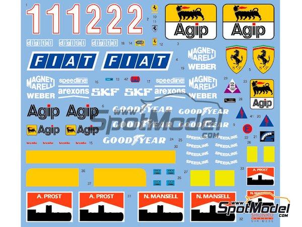 Image 2: Ferrari 641/2 F1-90 Marlboro Agip Fiat - FIA Formula 1 World Championship 1990   Marking / livery in 1/12 scale manufactured by Shunko Models (ref.SHK-D355)