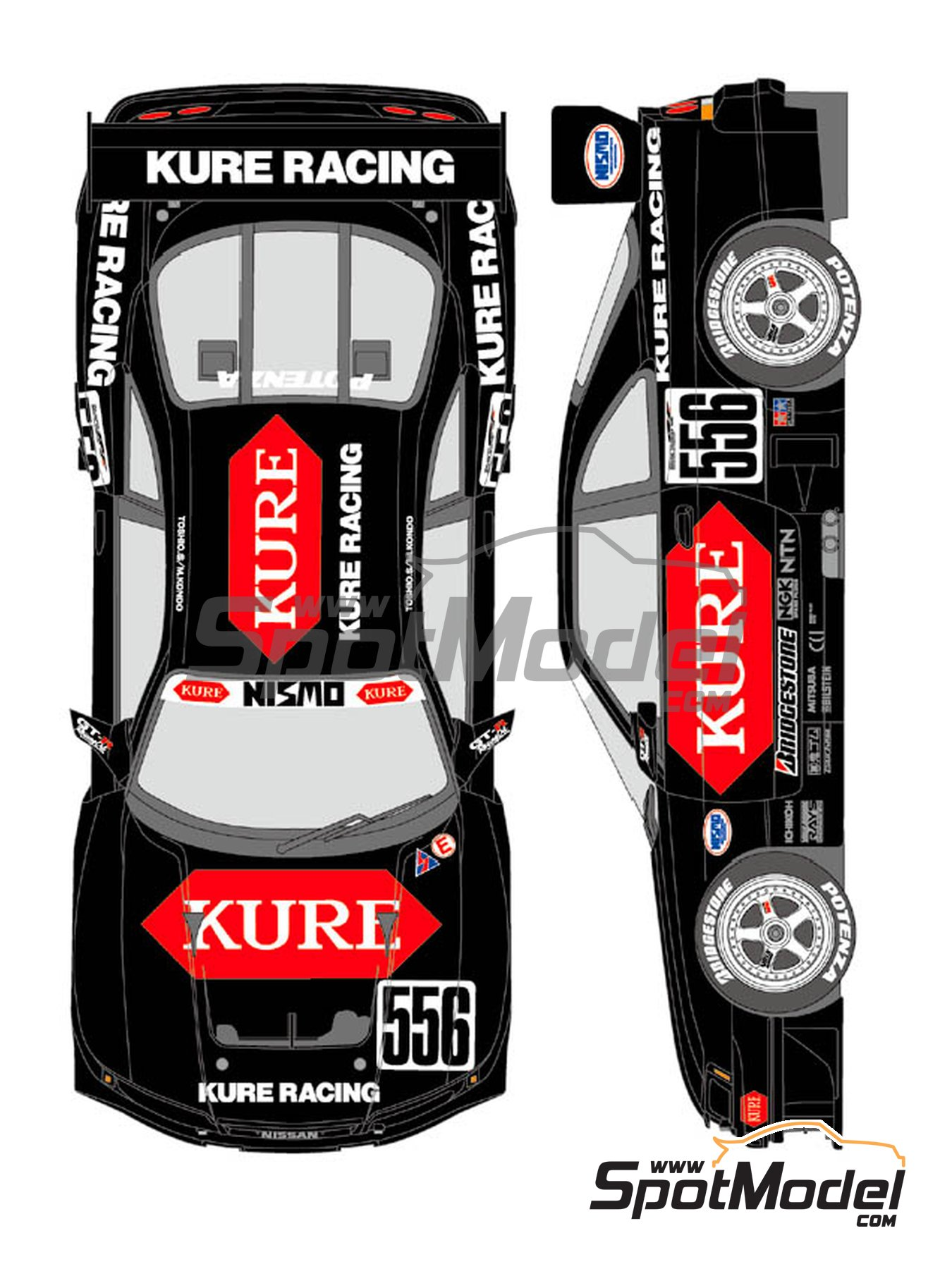 Nissan Nismo GT-R Kure Racing - Japanese Grand Touring Car Championship (JGTC) 1996 | Marking / livery in 1/24 scale manufactured by Shunko Models (ref.SHK-D359) image