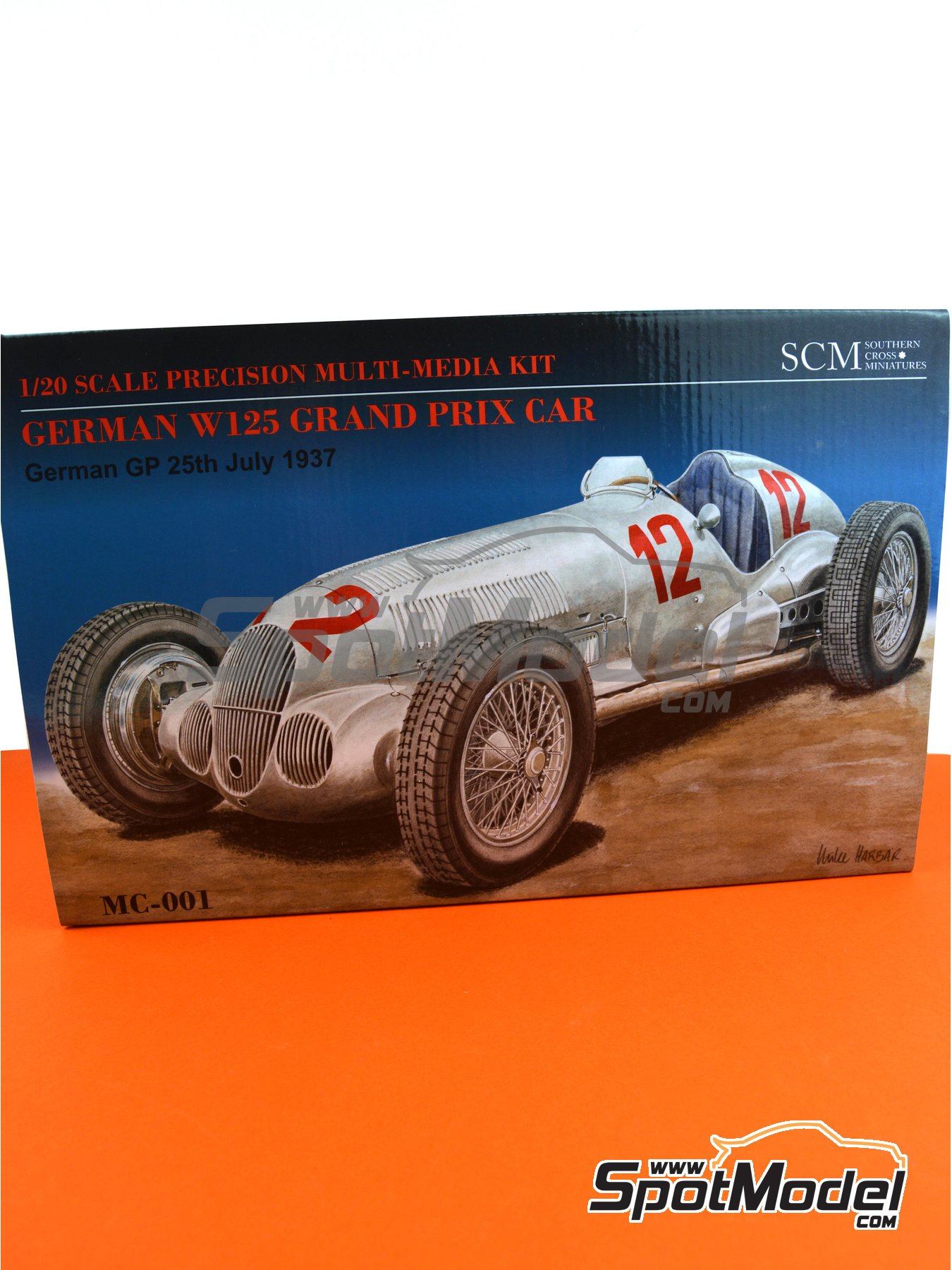 Mercedes-Benz W125 - German Grand Prix 1937 | Model car kit in 1/20 scale manufactured by Southern Cross Miniatures (ref. MC-001) image