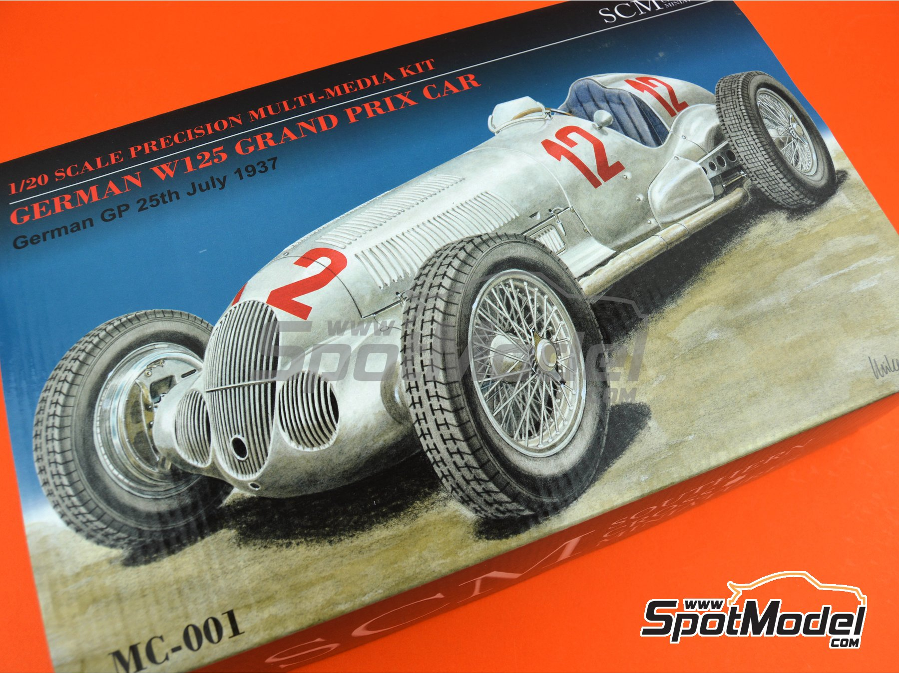 Image 33: Mercedes-Benz W125 - German Formula 1 Grand Prix 1937 | Model car kit in 1/20 scale manufactured by Southern Cross Miniatures (ref. MC-001)