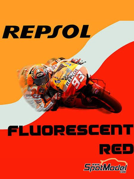 Repsol Fluorescent Red - 1 x 30ml | Paint manufactured by Splash Paints (ref. SP-051) image