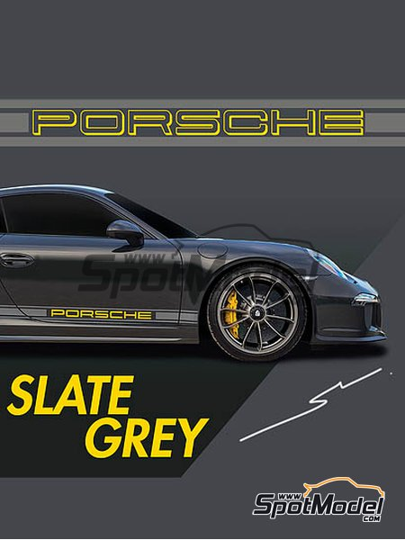Porsche Slate Grey | Paint manufactured by Splash Paints (ref. SP-102) image