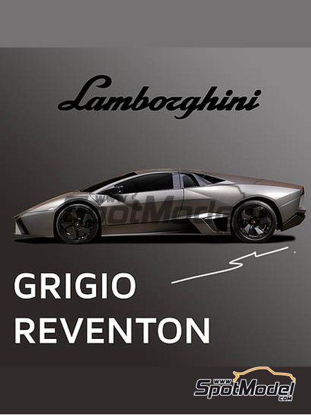 Lamborghini Grigio Reventon | Paint manufactured by Splash Paints (ref. SP-109) image