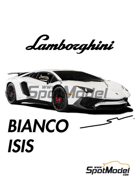 Lamborghini Bianco Isis - 1 x 30ml | Paint manufactured by Splash Paints (ref. SP-111) image