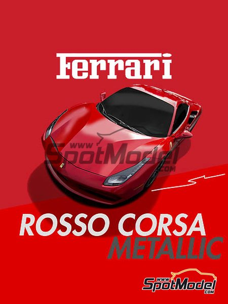 Ferrari Rosso Corsa Metallic | Paint manufactured by Splash Paints (ref. SP-138) image