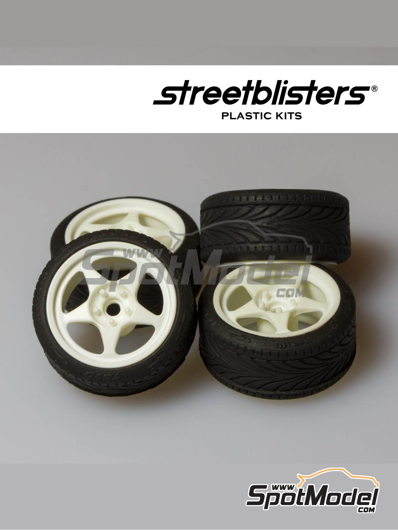 SB-EVO | Rims and tyres set in 1/24 scale manufactured by StreetBlisters (ref. 10001) image