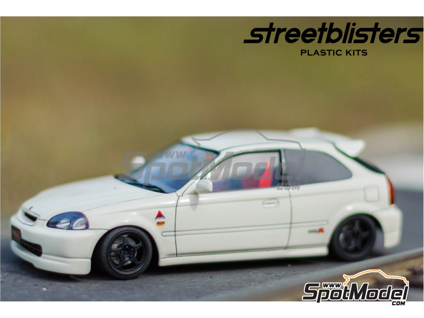Image 2: SB-EVO | Rims and tyres set in 1/24 scale manufactured by StreetBlisters (ref. 10001)