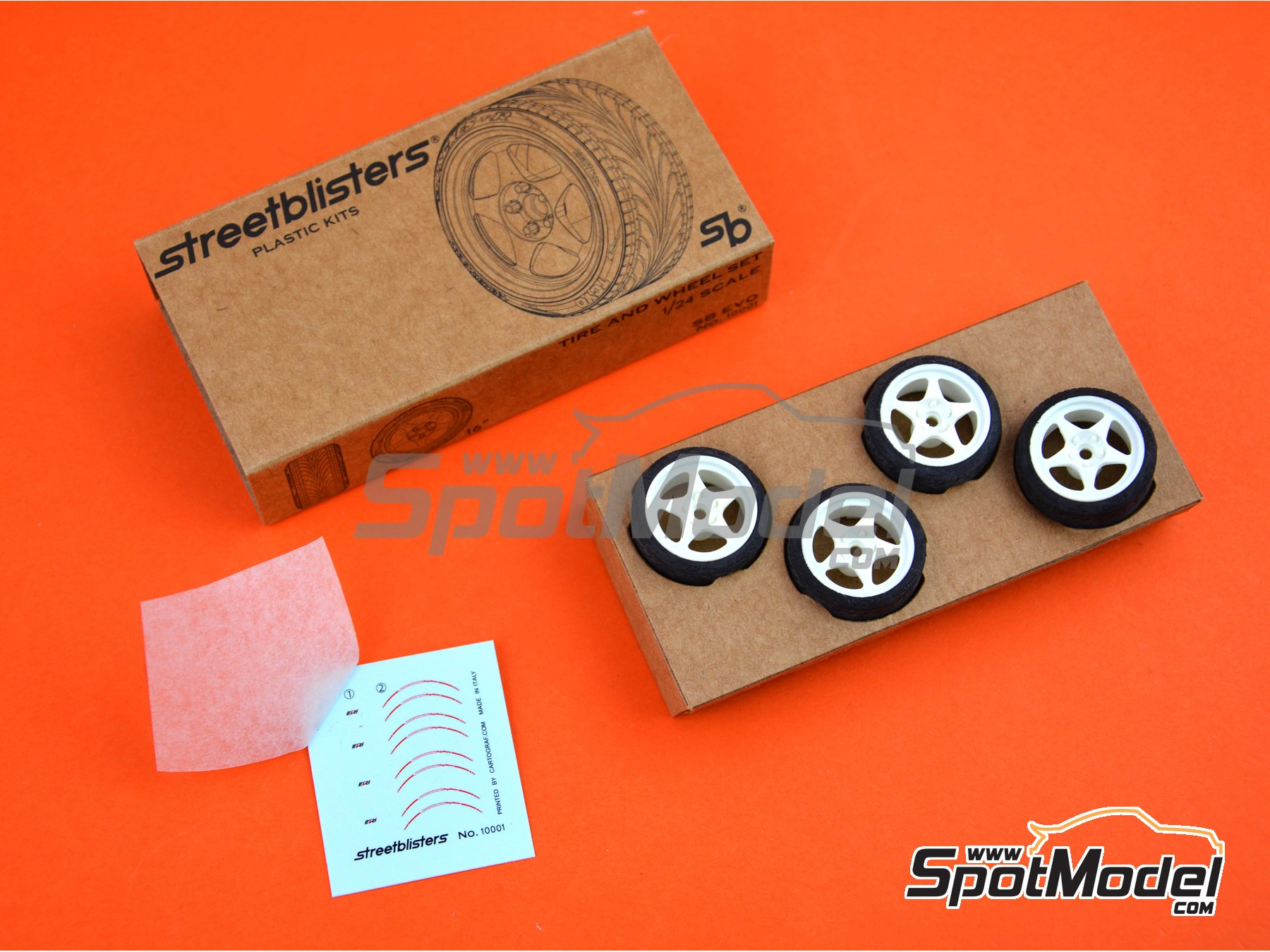 Image 7: SB-EVO | Rims and tyres set in 1/24 scale manufactured by StreetBlisters (ref. 10001)