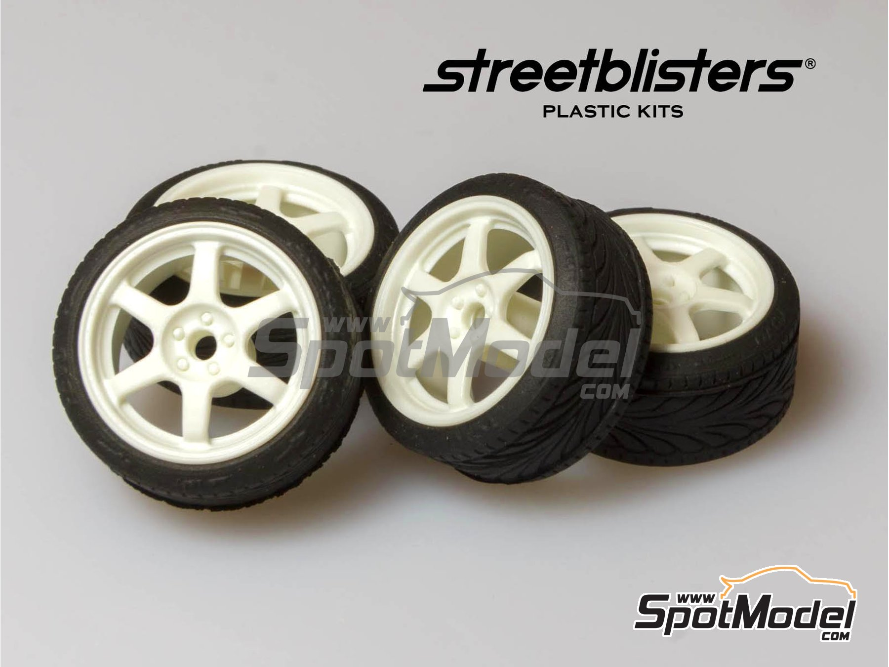 Image 1: SB-37 | Rims and tyres set in 1/24 scale manufactured by StreetBlisters (ref. 10002)