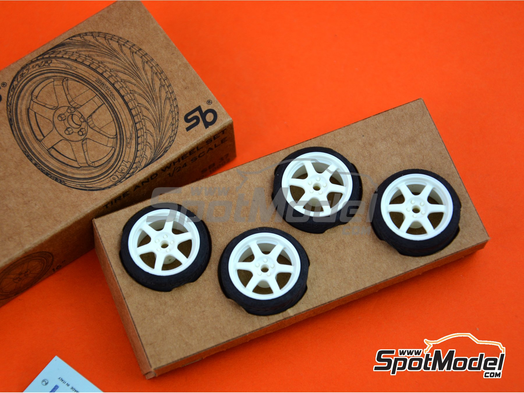 Image 4: SB-37 | Rims and tyres set in 1/24 scale manufactured by StreetBlisters (ref. 10002)