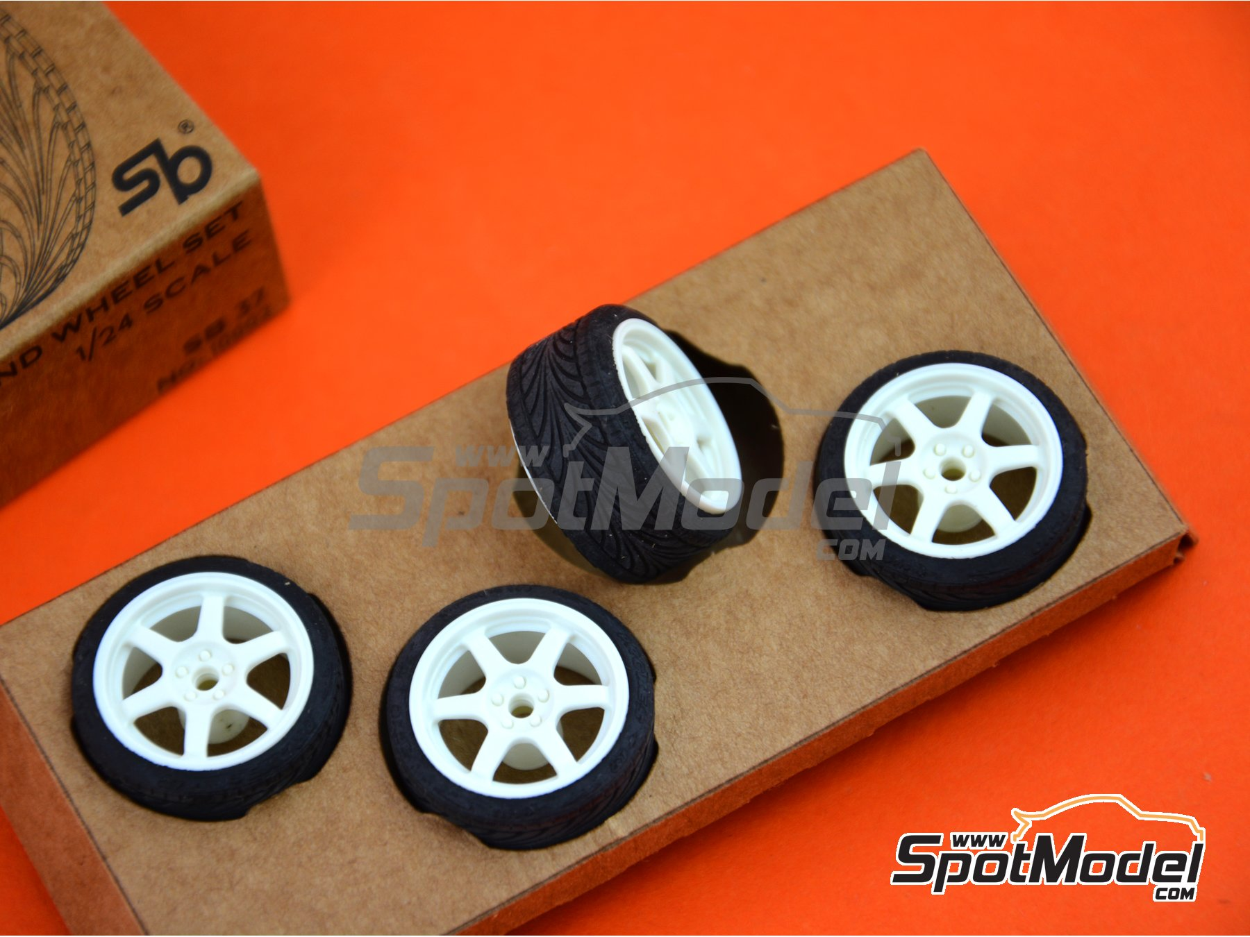 Image 5: SB-37 | Rims and tyres set in 1/24 scale manufactured by StreetBlisters (ref. 10002)
