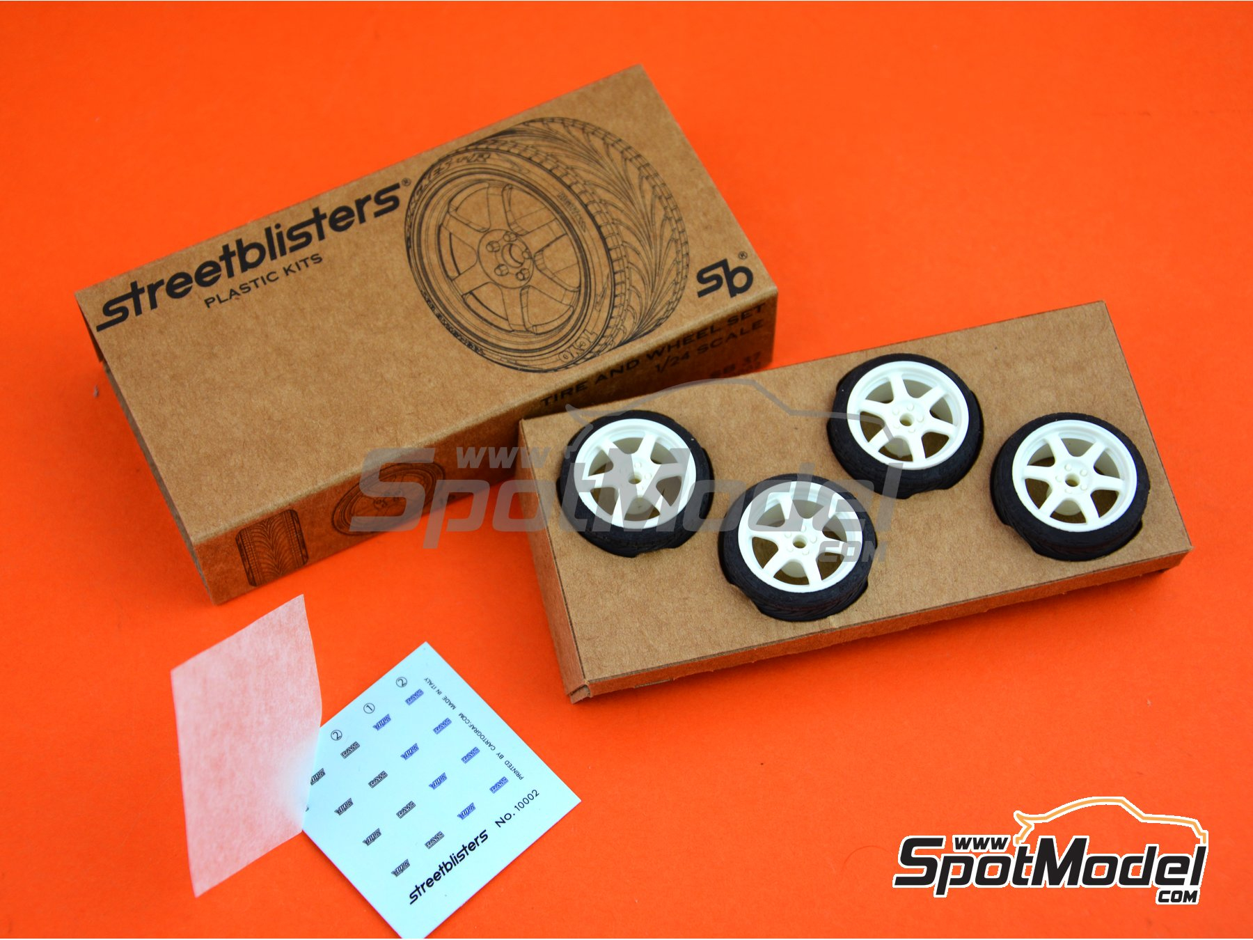 Image 7: SB-37 | Rims and tyres set in 1/24 scale manufactured by StreetBlisters (ref. 10002)