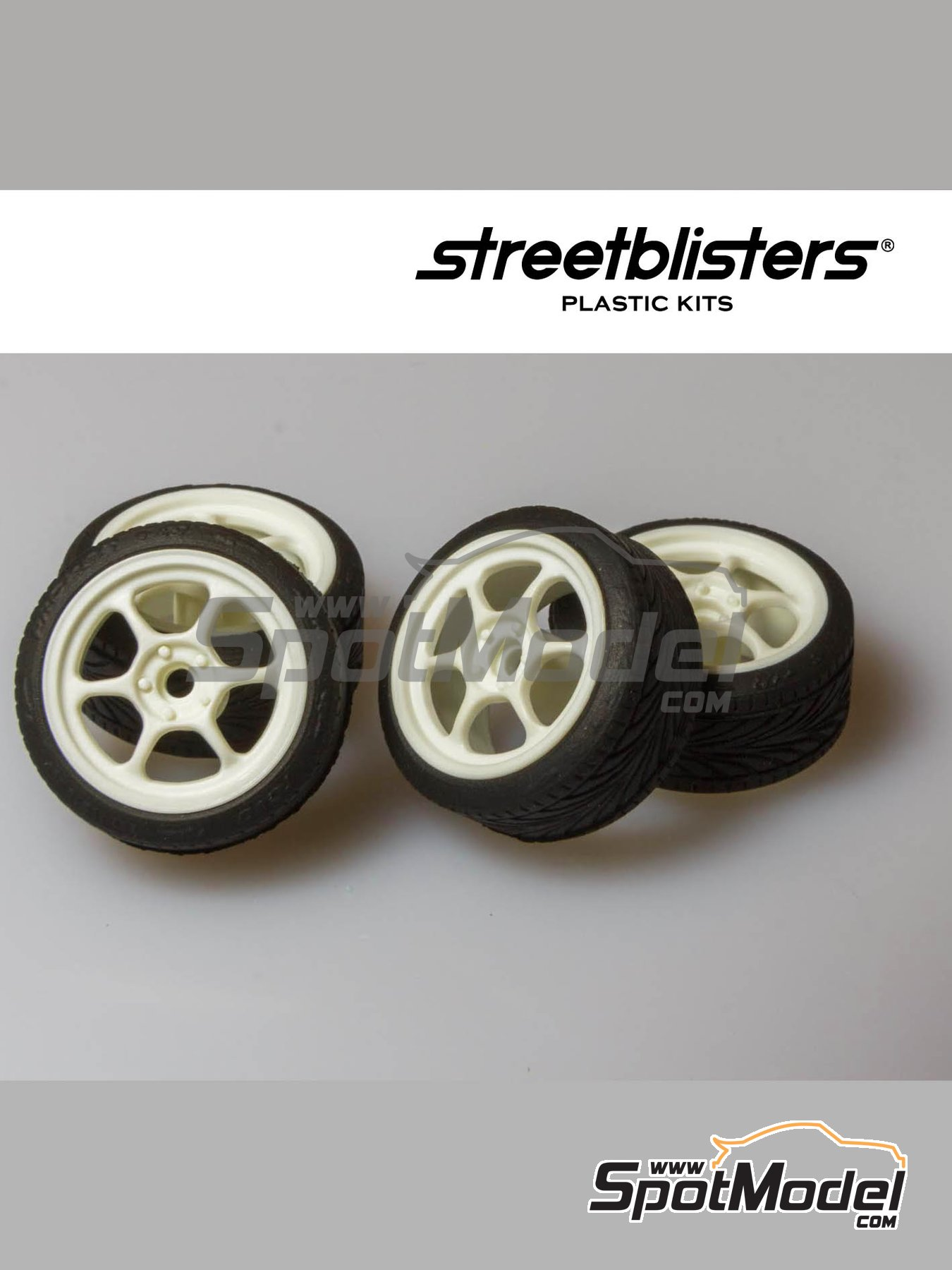 SB-RG | Rims and tyres set in 1/24 scale manufactured by StreetBlisters (ref. 10003) image