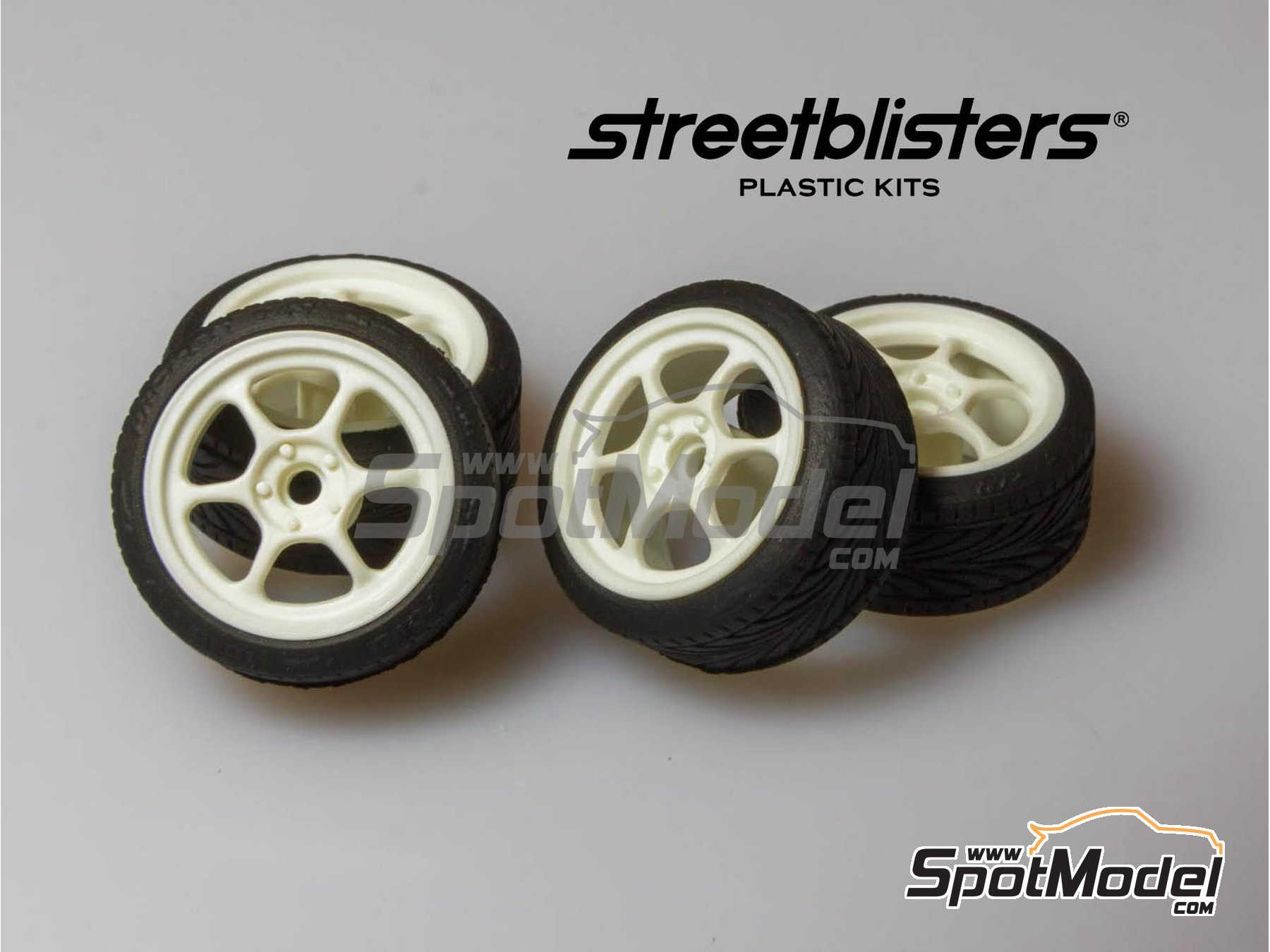 Image 1: SB-RG | Rims and tyres set in 1/24 scale manufactured by StreetBlisters (ref. 10003)