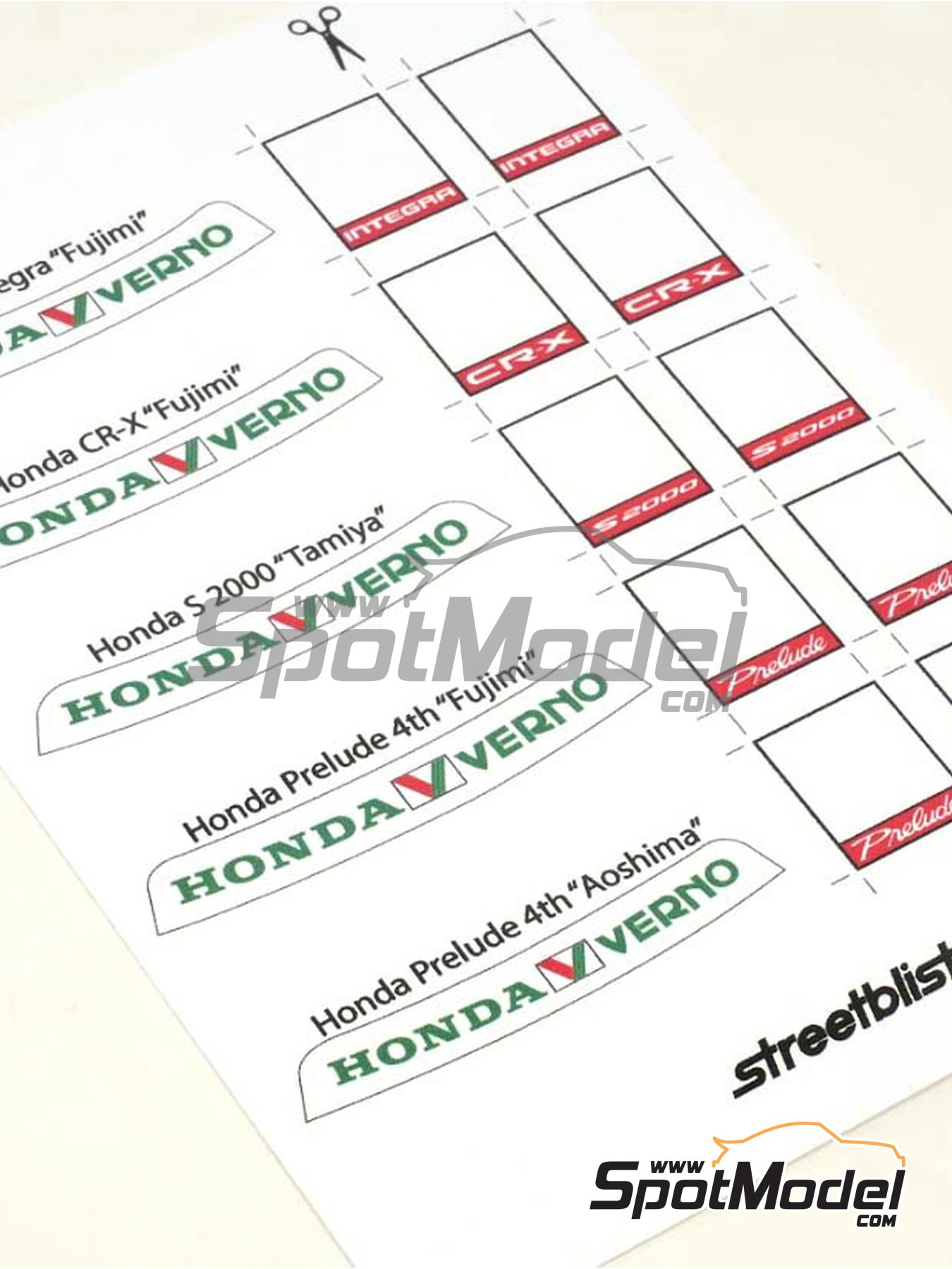 Honda Verno | Sunshade in 1/24 scale manufactured by StreetBlisters (ref. 14001) image