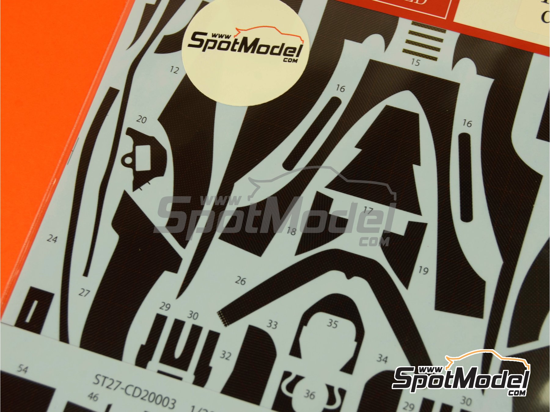 Image 3: Williams Renault FW16   Carbon fibre pattern decal in 1/20 scale manufactured by Studio27 (ref.ST27-CD20003)