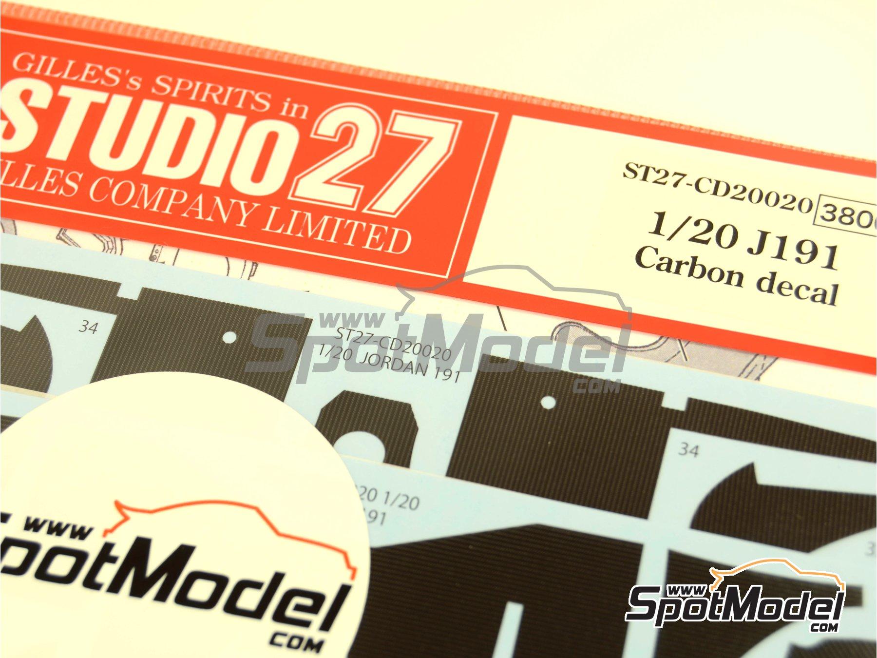 Image 2: Jordan Ford J191 | Patron de fibra de carbono en calca en escala1/20 fabricado por Studio27 (ref.ST27-CD20020)