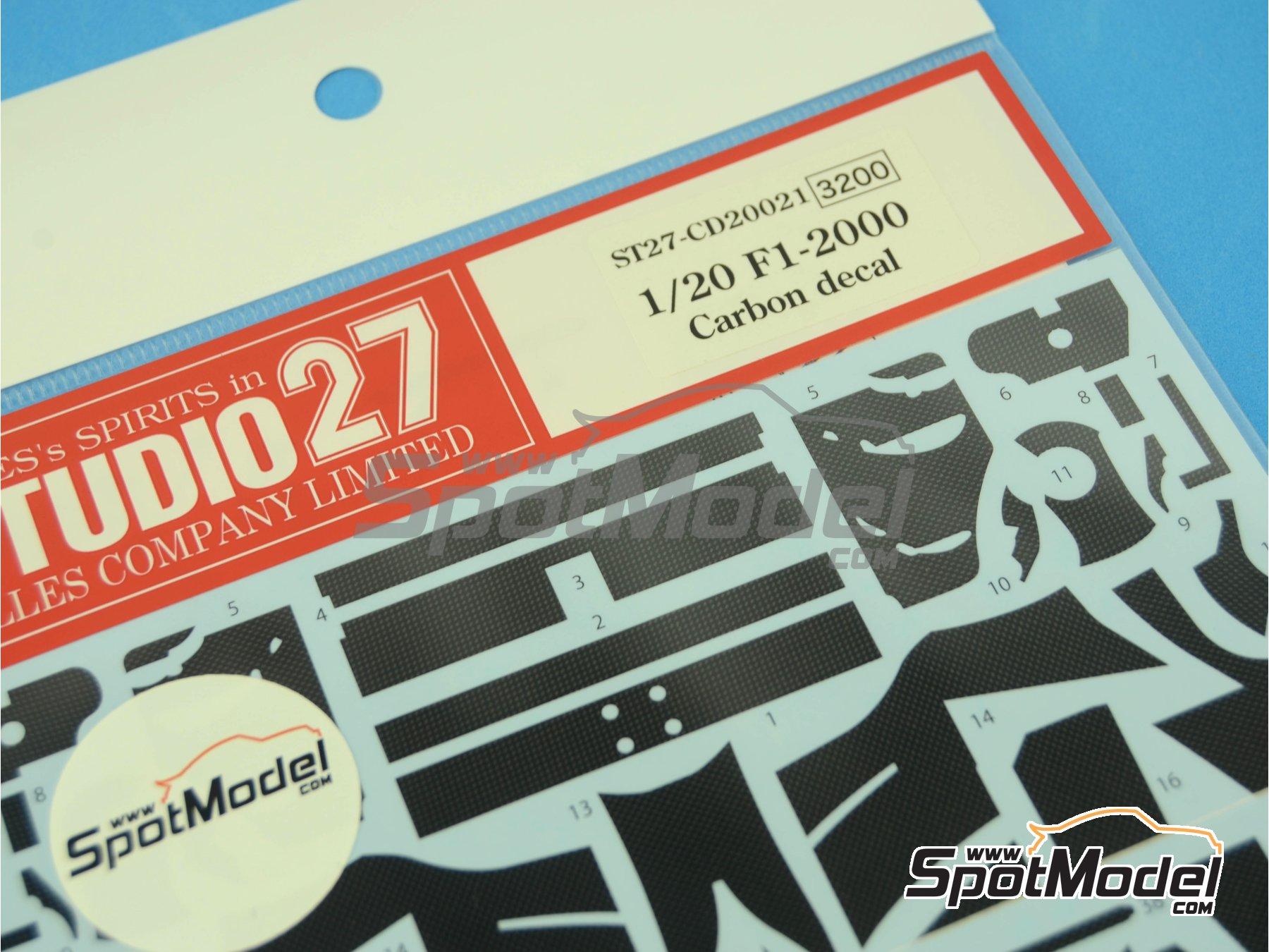 Image 4: Ferrari F1 2000 | Carbon fibre pattern decal in 1/20 scale manufactured by Studio27 (ref.ST27-CD20021)