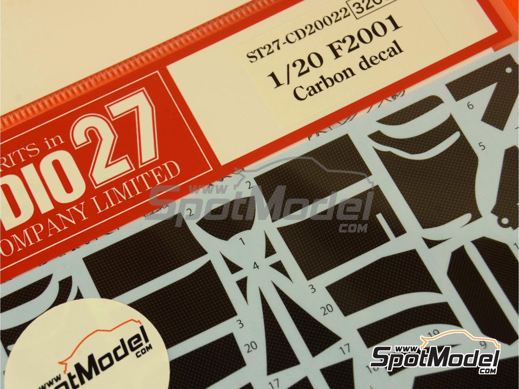 Image 3: Ferrari F2001 | Patron de fibra de carbono en calca en escala1/20 fabricado por Studio27 (ref.ST27-CD20022)