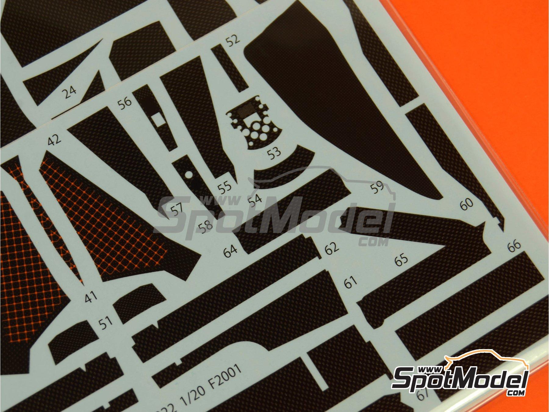 Image 5: Ferrari F2001 | Patron de fibra de carbono en calca en escala1/20 fabricado por Studio27 (ref.ST27-CD20022)