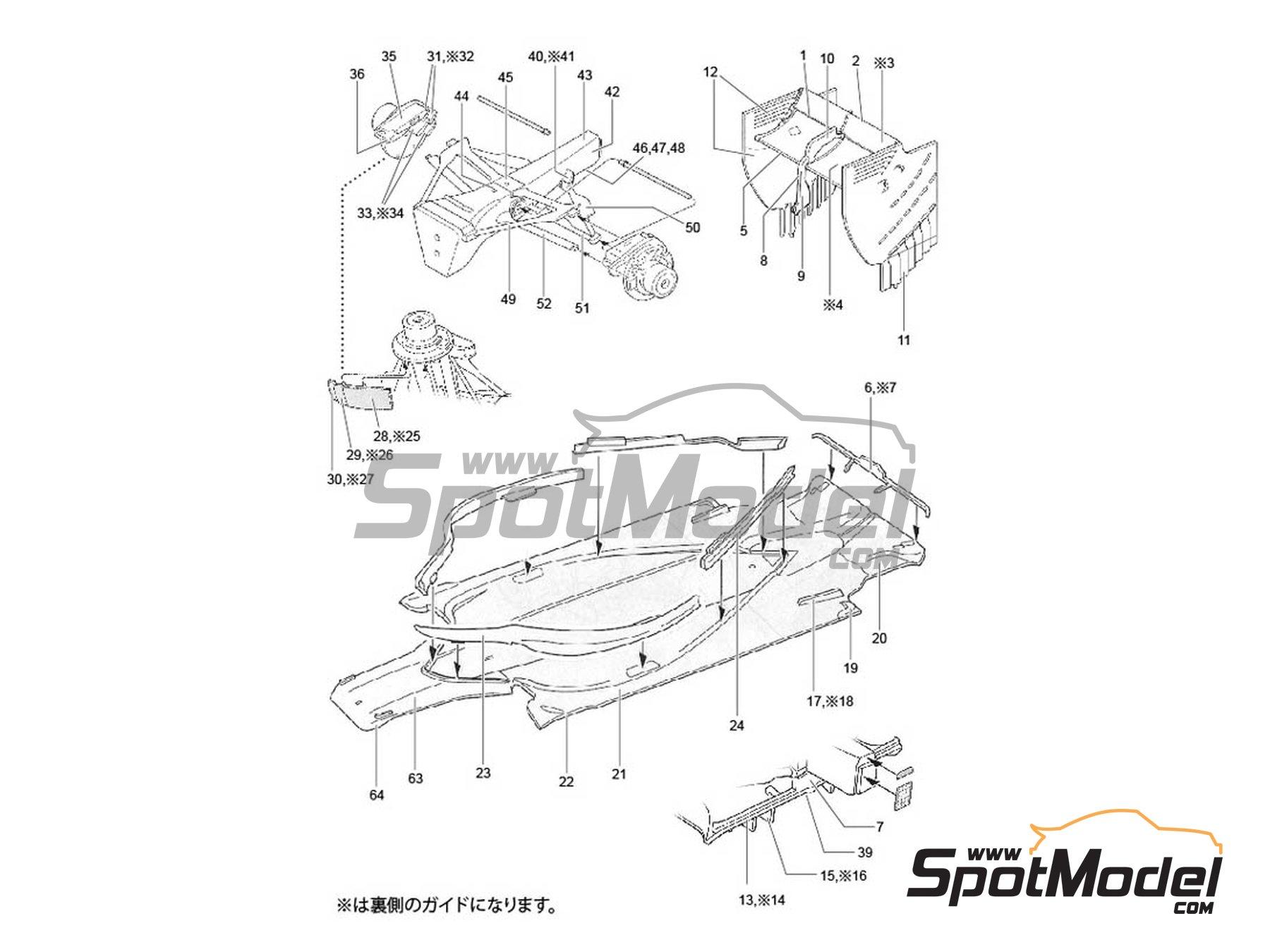 Image 2: McLaren Honda MP4/30 Mobil1 - Campeonato del Mundo de Formula1 2015 | Patron de fibra de carbono en calca en escala1/20 fabricado por Studio27 (ref.ST27-CD20030)