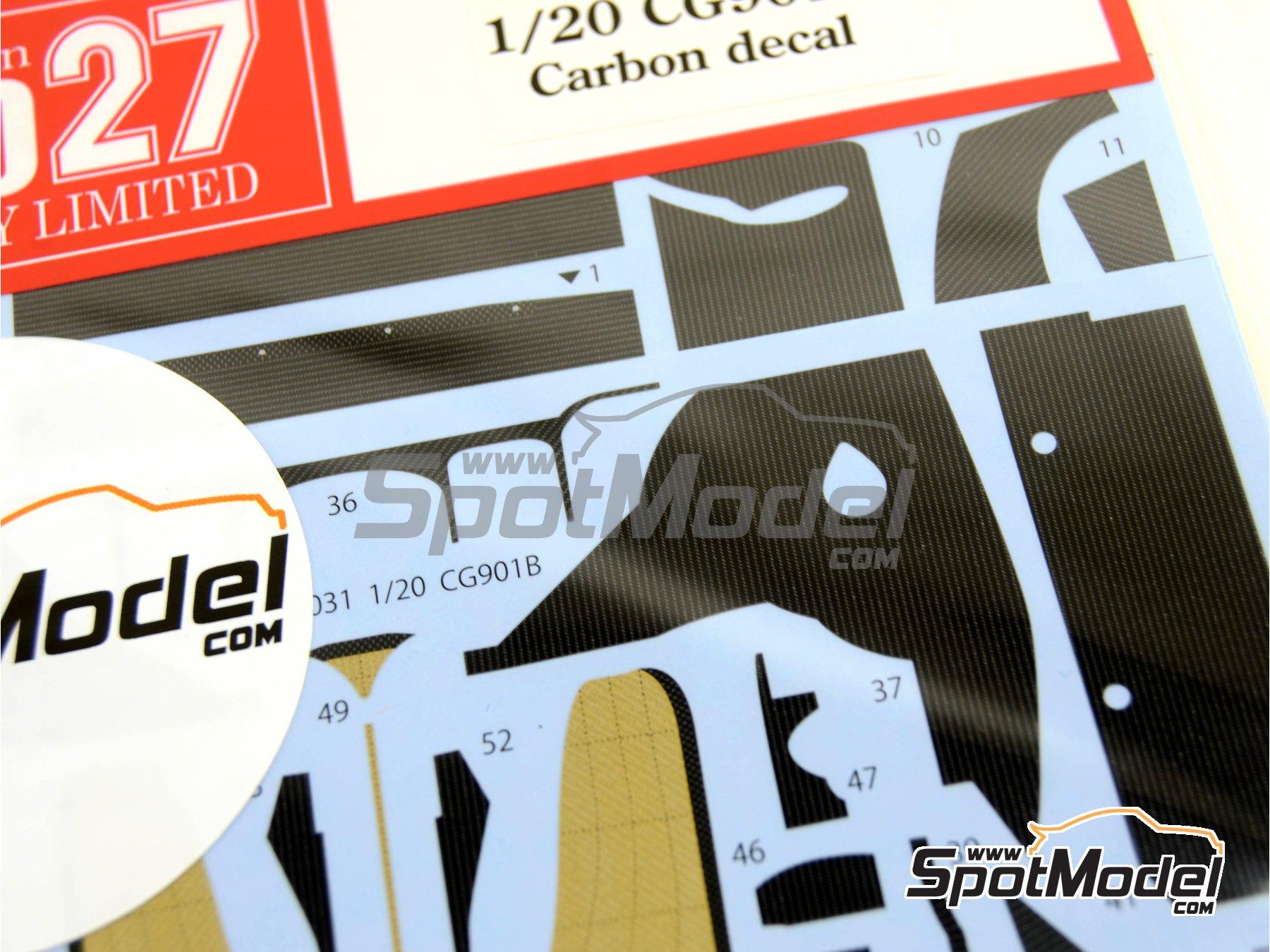 Image 3: Leyton House Judd CG901B Carglass - Campeonato del Mundo de Formula1 1990 | Patron de fibra de carbono en calca en escala1/20 fabricado por Studio27 (ref.ST27-CD20031)