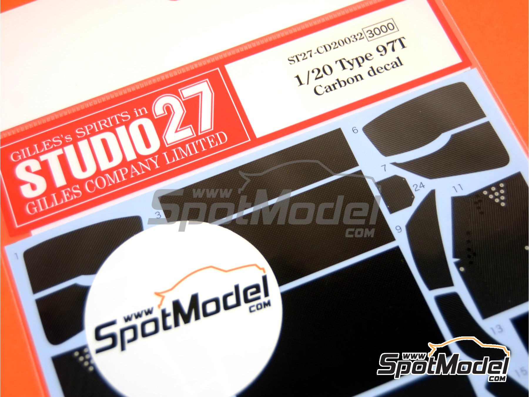 Image 1: Lotus Renault 97T | Carbon fibre pattern decal in 1/20 scale manufactured by Studio27 (ref.ST27-CD20032)