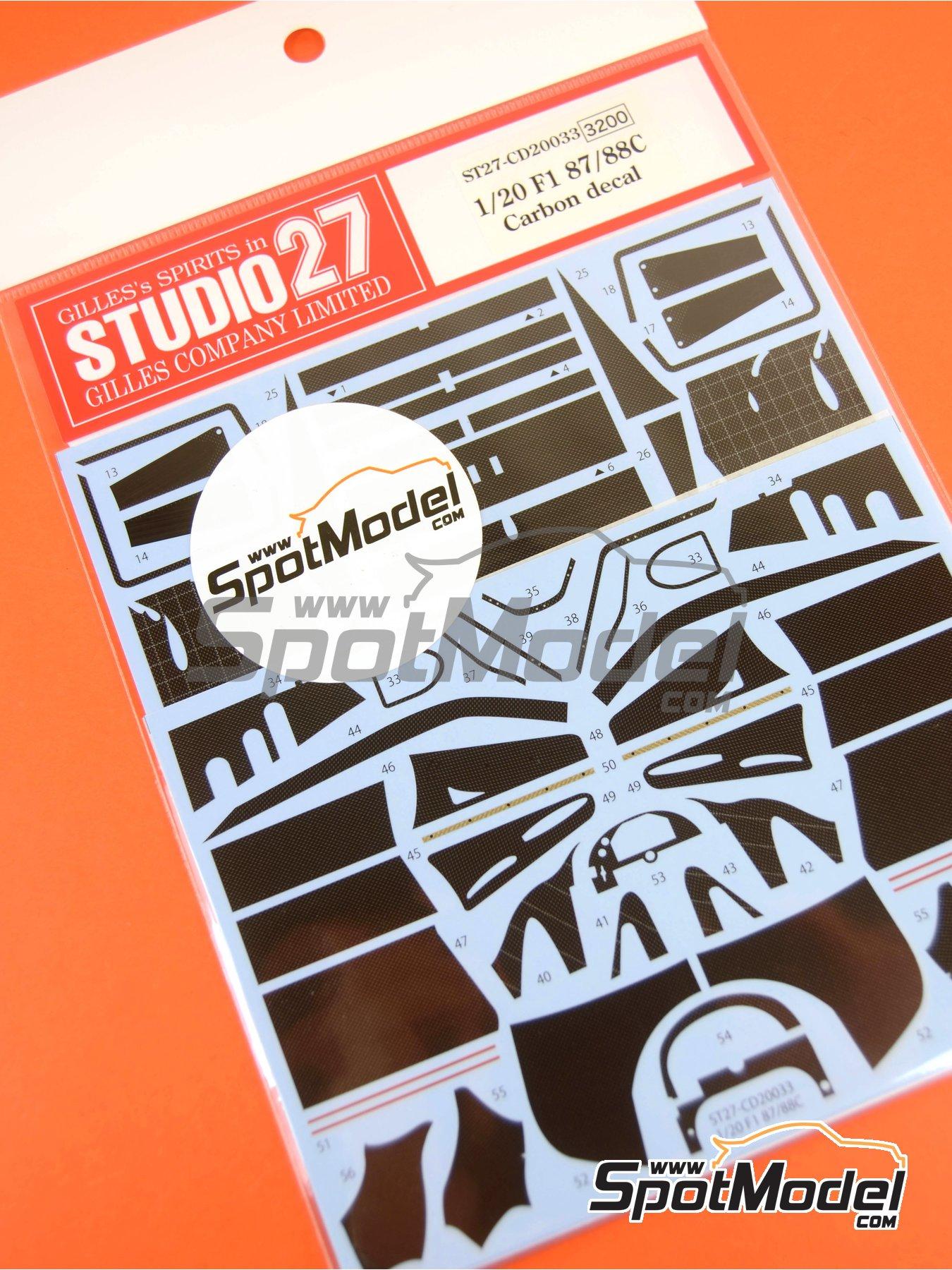 Ferrari F1 87/88C | Carbon fibre pattern decal in 1/20 scale manufactured by Studio27 (ref.ST27-CD20033) image