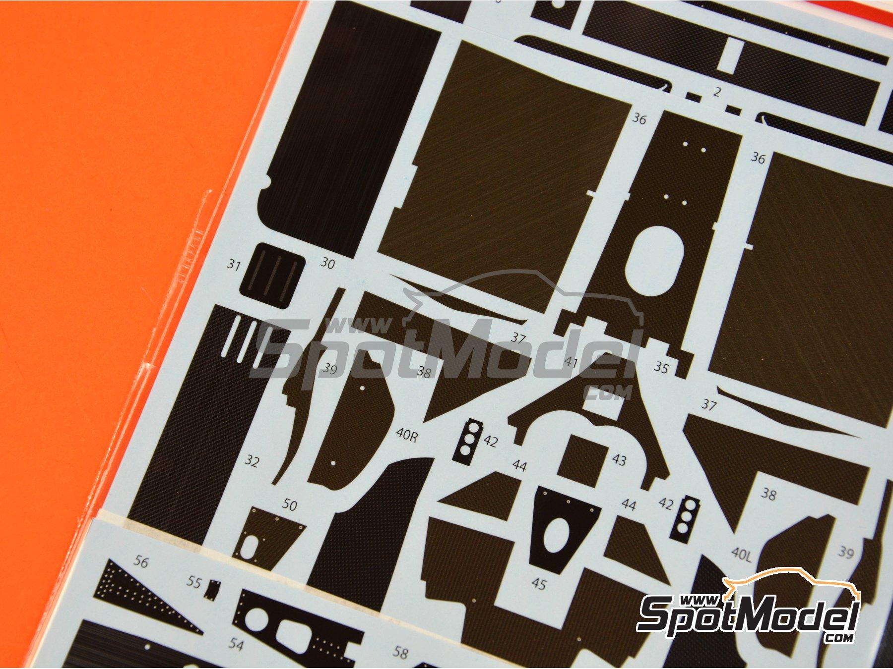 Image 4: McLaren MP4/2B TAG Porsche | Patron de fibra de carbono en calca en escala1/20 fabricado por Studio27 (ref.ST27-CD20036)