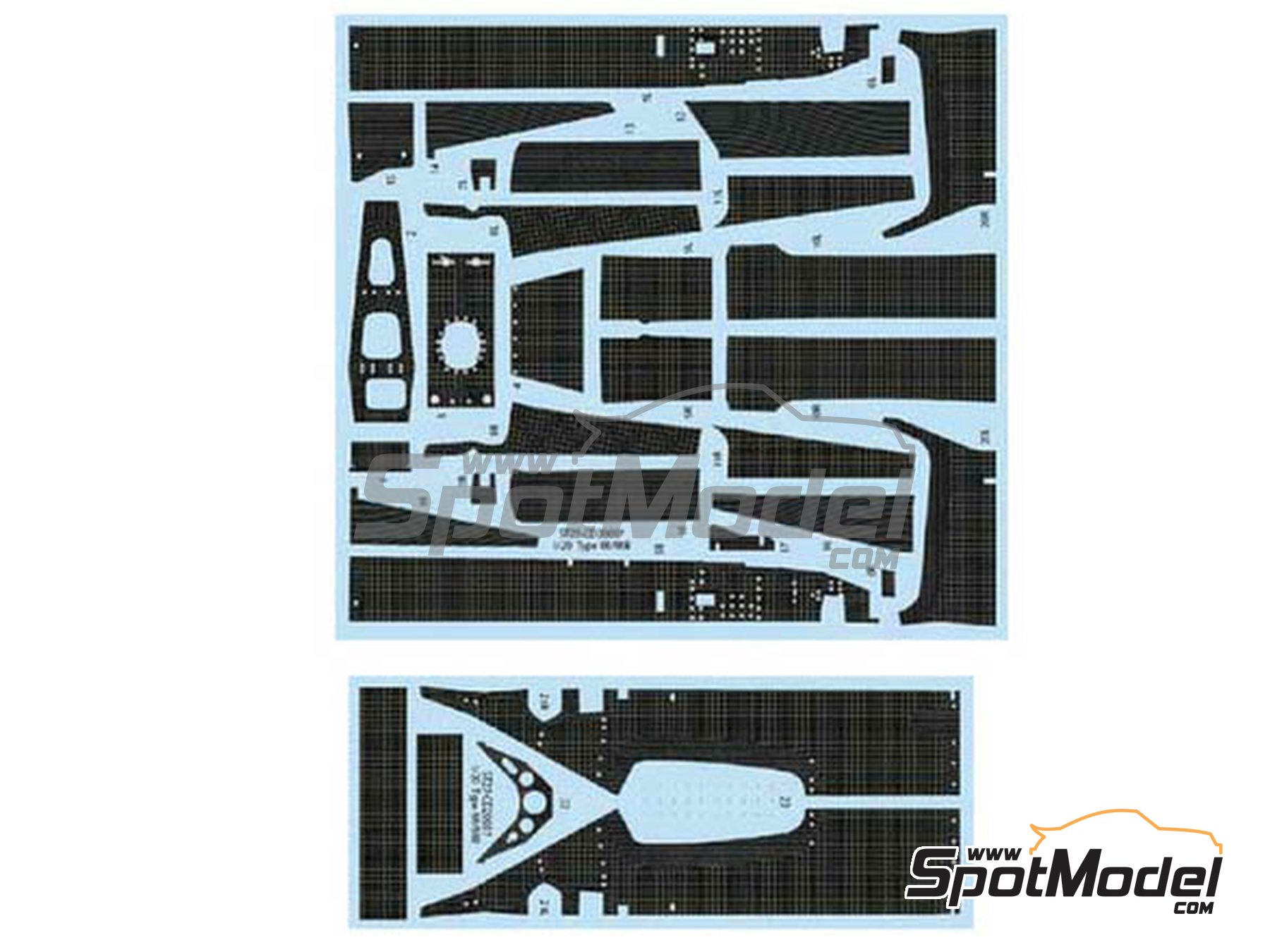 Image 1: Lotus Ford Type 88 | Carbon fibre pattern decal in 1/20 scale manufactured by Studio27 (ref.ST27-CD20037)